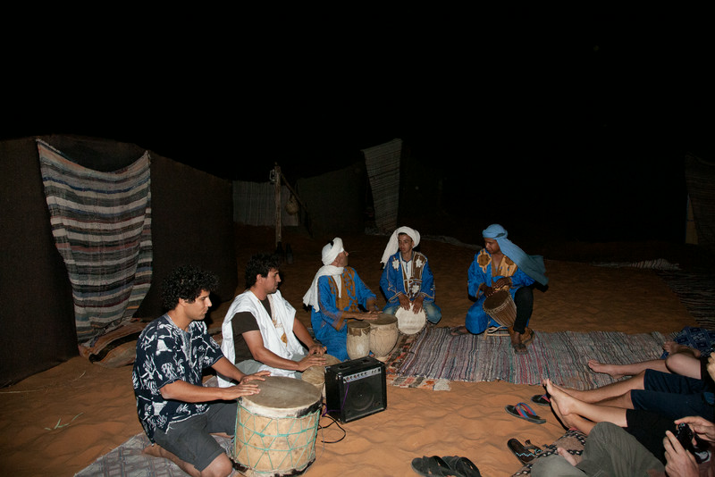 Joussef with his Berber friends