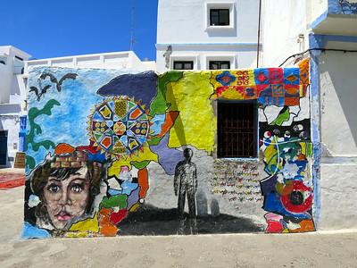 murals, asilah, morocco