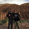 With our guide, Ahmed, at Tamnalt Hills.
