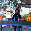 Orange juice seller at Dades Gorge