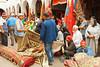 A carpet auction in the Habous Quarter souq in Casablanca, Morocco.