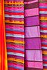 Closeups of textiles in the market of the Habous Quarter souq in Casablanca, Morocco.