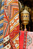 Closeups of carpets in the market of the Habous Quarter souq in Casablanca, Morocco.