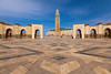 Exterior of the Mohammed V mosque in Casablanca, Morocco.