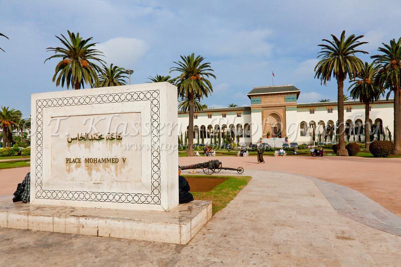 The Mohammed V Square in Casablanca, Morocco.