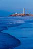 A view of the El Hank lighthouse on the Corniche Atlantic Ocean in Casablanca, Morocco.