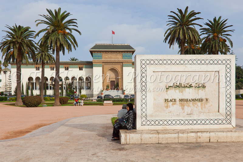 The Mohammed V Square in Casablanca, Morocco.