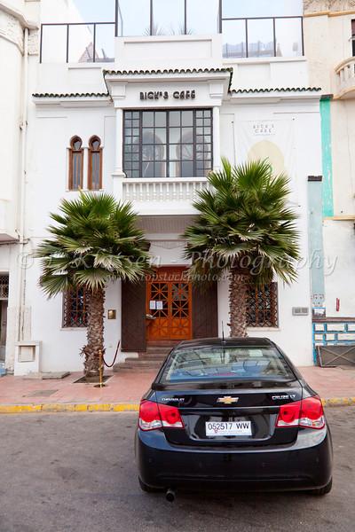 Exterior of Rick's Cafe in Casablanca, Morocco.