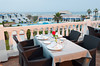 A table setting at the outdoor restaurant at the Hotel Riad Salem in Casablanca, Morocco.