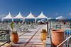 A seaside outdoor restaurant on the Corniche in Casablanca, Morocco.