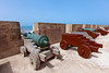 Canons at the Portuguese fort in the medina of Essaouira, Morocco.