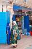 Women in the souqs and shops of Essauoira, Morocco.