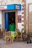 A small cafe restaurant in the medina souq of Essaouira, Morocco.