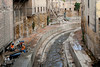 A draining ditch in the Medina, old city of Fes, Morocco.