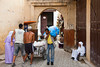 Street activity in the souq market of the medina, old city of Fes, Morocco.