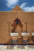 Wall detail at the Hotel Kasbah Asmaa in Midelt, Morocco.