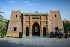 Exterior of the Hotel Kasbah Xaluca in Erfoud, Morocco.