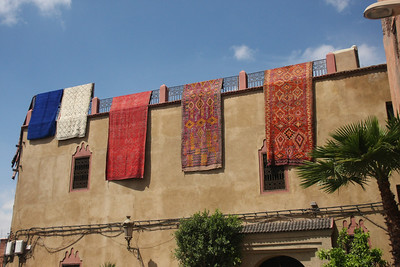 Carpets airing, Marrakesh