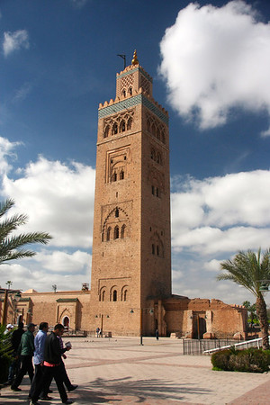 Famous minaret & shebab in a hurry