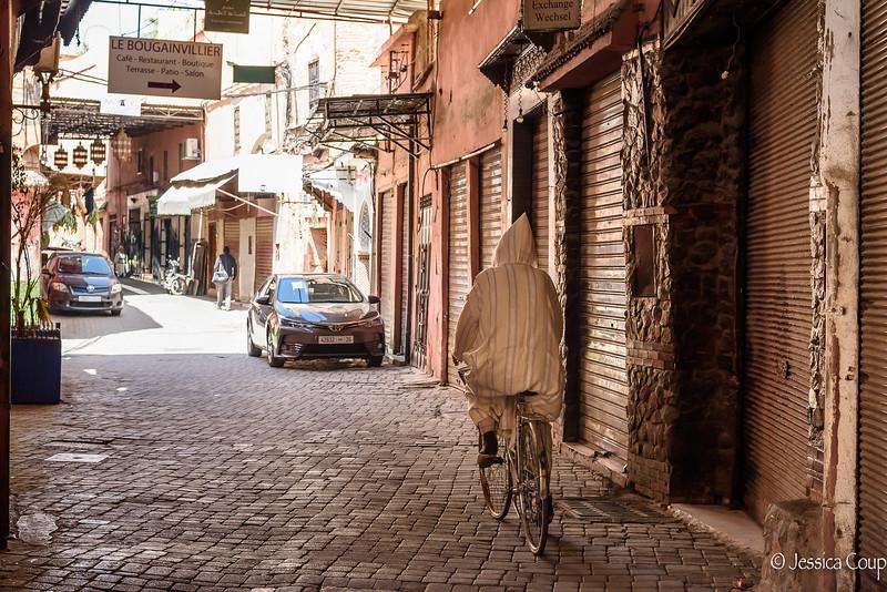 Riding in a Djellaba
