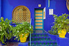 The Jardin de Majorelle gardens in Marrakesh, Morocco.