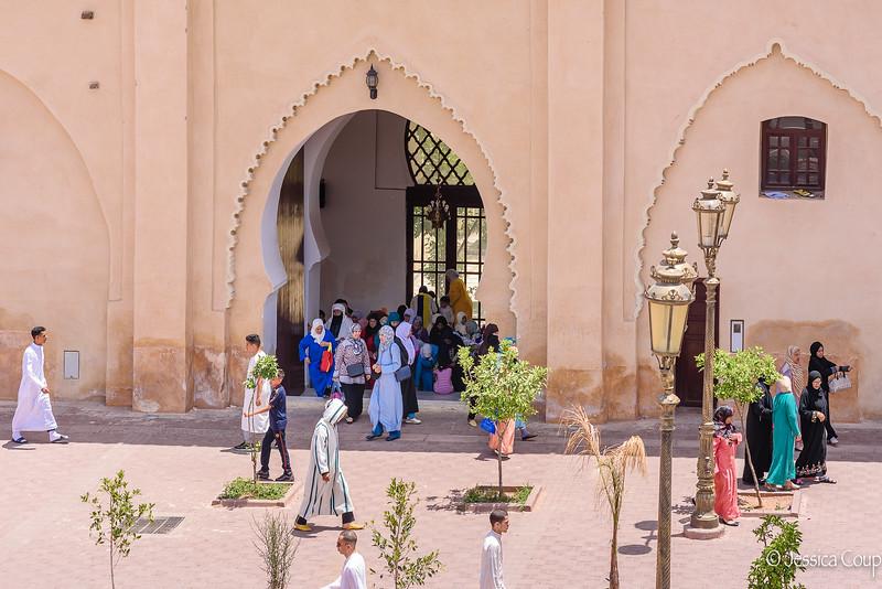Leaving Kasbah Mosque