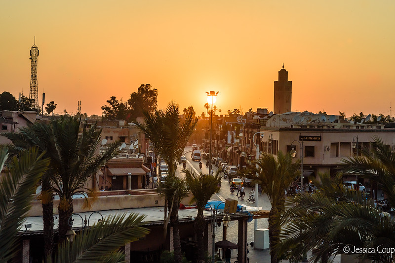 Sunset Over Marrakesh