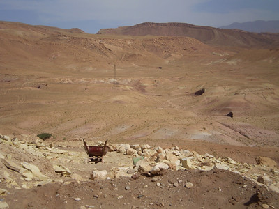 Ait Ben Haddou, wheelbarrow