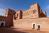 Exterior of the Taourit Casbah near Ourzazate, Morocco.