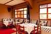 Interior architecture and furnishing of a Moroccan restaurant near the Ait Benhaddou, Casbah, Morocco.