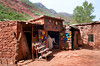 Berber village in the Ourika Valley in the Atlas Mountains of Morocco.