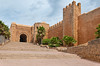The Oudayas Casbah wall and great gate  entrance in Rabat, Morocco.
