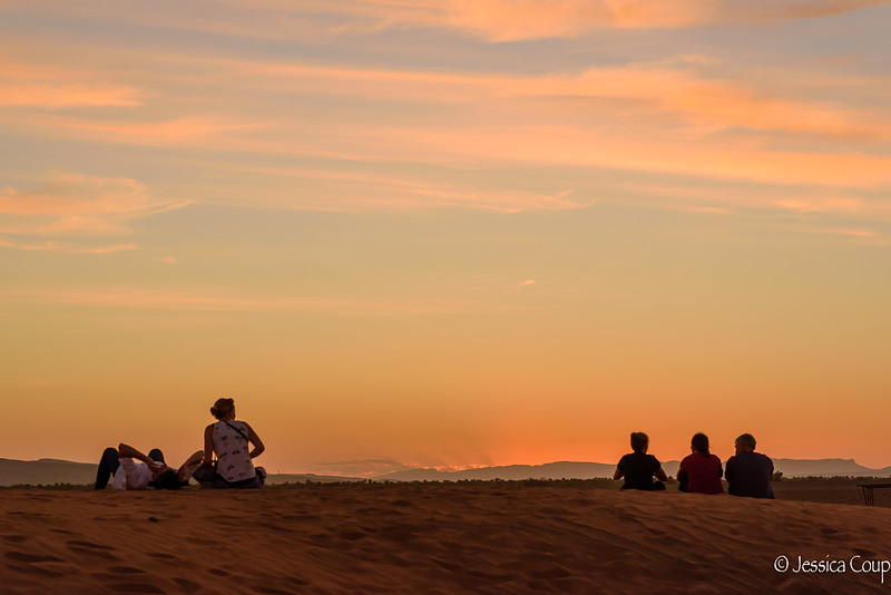 Watching Sunset on a Sand Dune