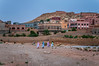 Hotels and restaurant with Moroccan architecture in Dades Canyon, Morocco.