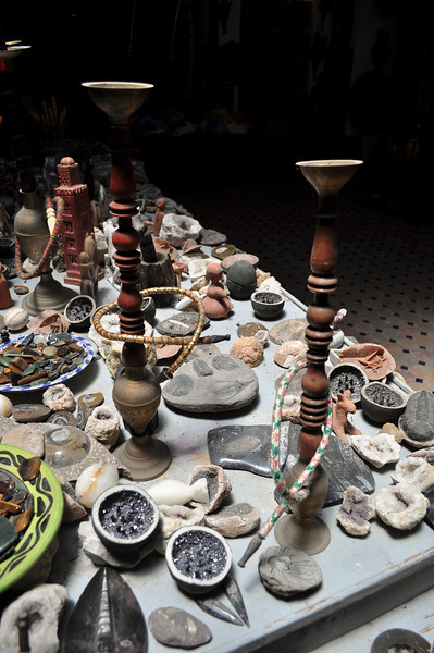 Hookah pipes in Tangier, Morocco.