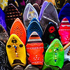 Slippers in Tangier, Morocco.