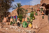 A pottery souq in the Kasbah of Tamegroute, Morocco.
