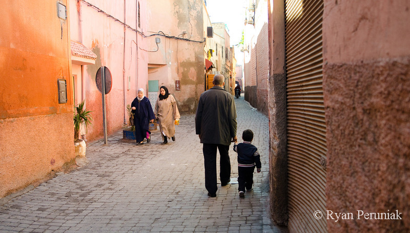 Wandering past all the shops unveils quiet alleys where people are going about day to day life.  It is here, away from the tourist areas that I find myself spending most of my time.  Life is slow paced here.