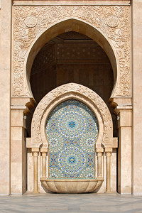 Fountain at Hassan II Mosque