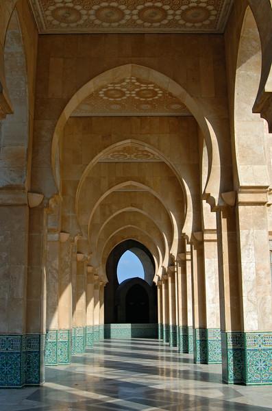 Gallery at Hassan II Mosque, Casablanca