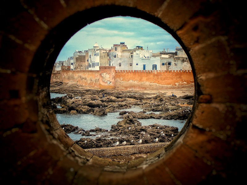 Essaouira through the city walls. 2005.