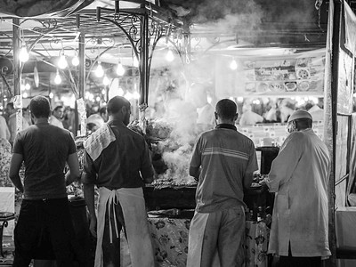 Marrakech food stall Morocco