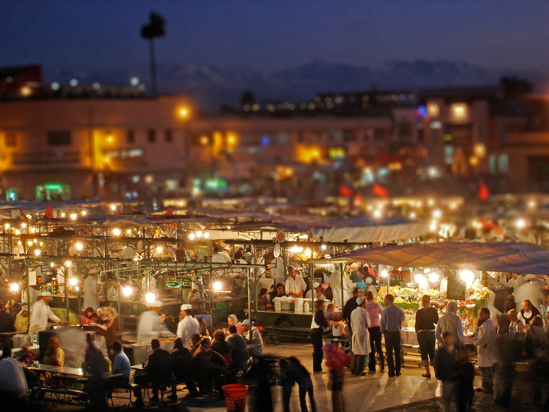 Marrakech's Jemaa el-Fnaa at night. 2007.