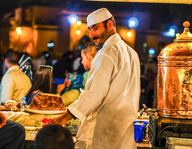 Street seller Jemaa el fna Morocco