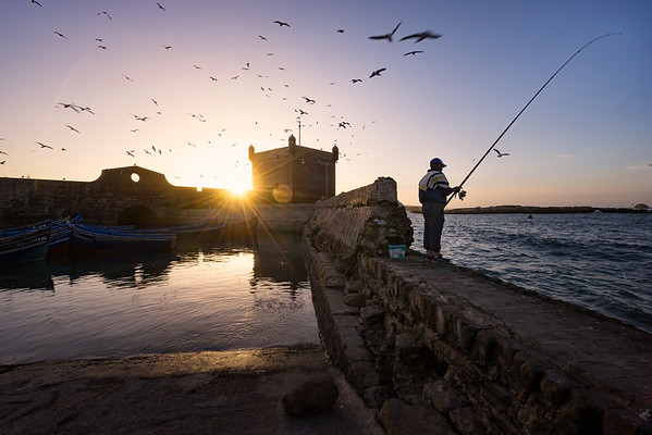 Fishing off the Coast of Essaouira