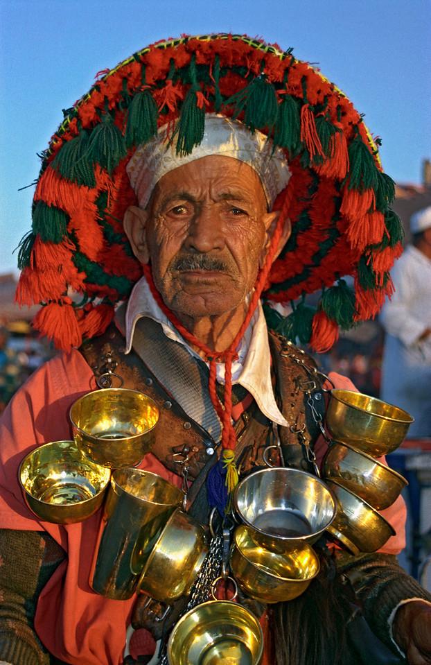 Water-seller, Marrakech, Morocco