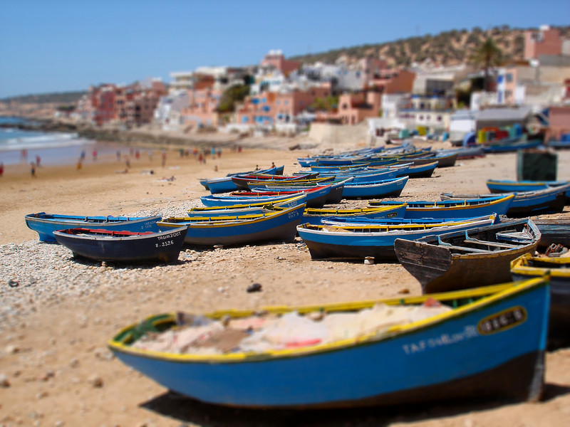 Boats in Taghazout. 2007.