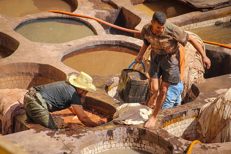 """A Days Work"" – Choudrey Tanneries, Fez, Morocco"
