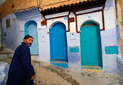 Street Scene from Chefchaouen Medina