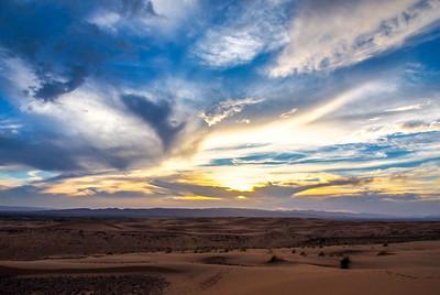 Desert sunrise Sahara Morocco